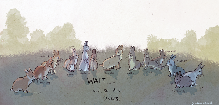 Watership Down by scribblerian