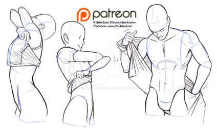 Undressing reference sheet by Kibbitzer