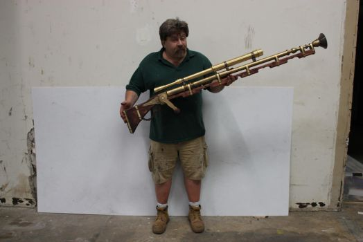 Steampunk Blunderbuss Long rifle by TheJugglingOctopus