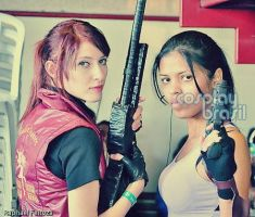 Claire and Sheva costumes by exilir-of-life