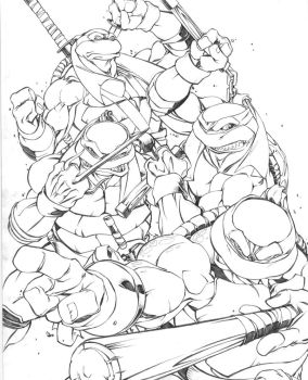 ninja friggin turtles by can-i-bus
