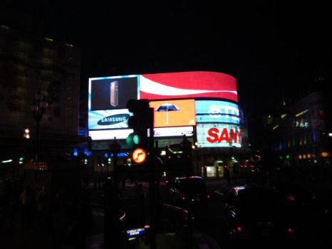 Piccadilly Circus by night by TigerQueen-Sangha
