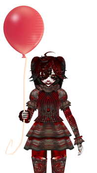 HALLOWEENWIP:PENNYWISE MIKU? by ThisisKENZ