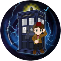 11th Doctor Button Design by PhantomStarStudio
