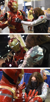 The Winter Soldier vs. Iron Man by gckinsey