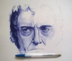 ballpoint pen drawing wip by cLoELaLi11