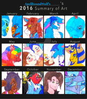 The Wolf's 2016 Art Summary by SpellboundFox