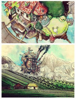 Howl's Moving Castle fanarts by beathaart