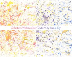 Splatters Watercolour Texture inspired by Flowers by LualaDy