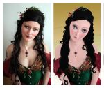 Christmas Doll Before_After by mishlee