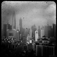 Shanghai Skyline by reydoo
