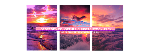 [02092017] COLORFULL SUNSETS STOCK PaCK by btchdirectioner
