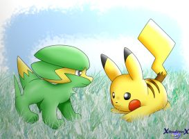 Pikachu and Electrike -600th devitation?-