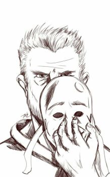 Daily Sketch: Emotional Mask by Hunchy