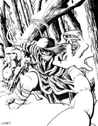 Omega Red - inks by misterclayton