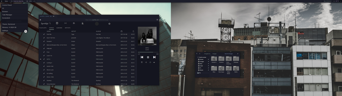 Buildings and Spotify by chloechantelle