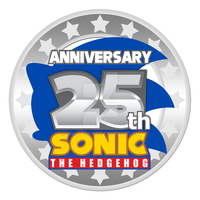 Sonic 25th Anniversary Logo - REMAKE by Sonicguru