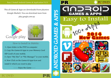 Android Apps and Games DVD Cover New by santoshempire