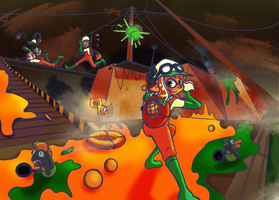Salmon Run by LilPlatypuss