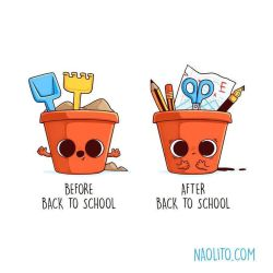 Before After Back To School by Naolito