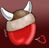 I heart teh Apple Viking by tigerqueen