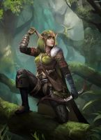 WoW Elf by clayscence