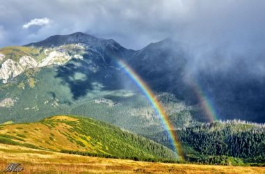 Rainbow in the mountains by miirex