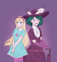 Star and Eclipsa by atomicheartlight