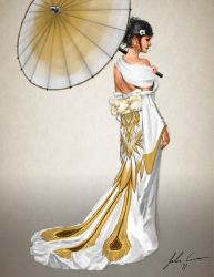 Wedding Gown Design - Back by JECBrush