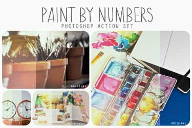 Paint by Numbers action pack by beorange