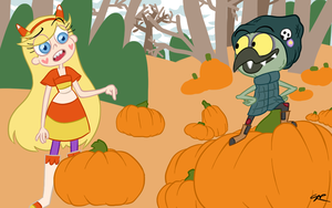 Pumpkin patch by Schizotypal-Sar