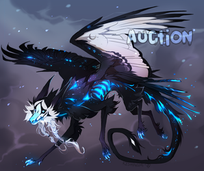#35 Blue space dragondog [ADOPT AUCTION] CLOSED by Keshinami