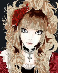 hizaki colored mspaint XD by kanogt