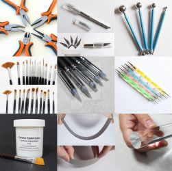 Tools and Materials for Polymer Clay Creations by ArtzieRush