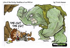 Calling time-out with cave trolls... rpg comic by travisJhanson