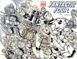 Fantastic Four 600 sketch cover by ToddNauck