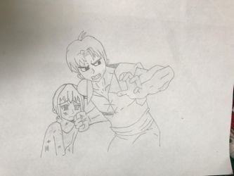 Hands off my sister!! (WIP 2) by EmoshyVinyl
