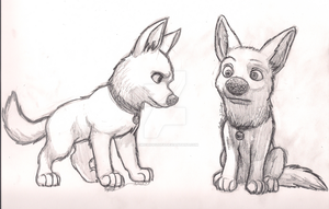 Bolt Practice Sketches by MewIchigoZoey