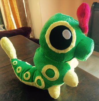 Caterpie Plush by LimeDumplr