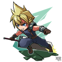 FA FF VII Cloud by XaR623