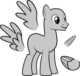 MLP:FiM - Male Adult Pony Vector Base by StargazeAndSundance
