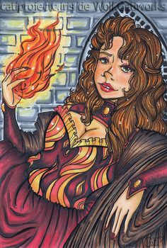 Fire Sorceress by CatiProjectC