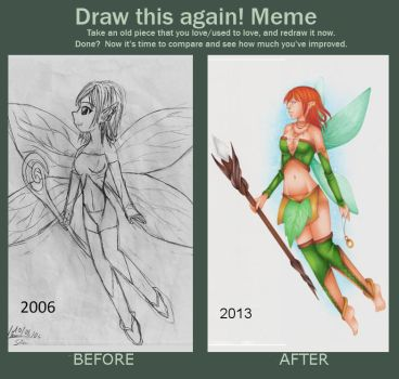 Draw this again Meme : Little fairy by Lexou-chan