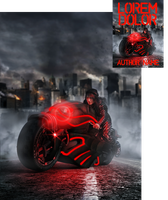 Murdercycle Premade Book Cover by Viergacht