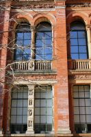 Victoria And Albert Museum Courtyard Facade Detail by aegiandyad