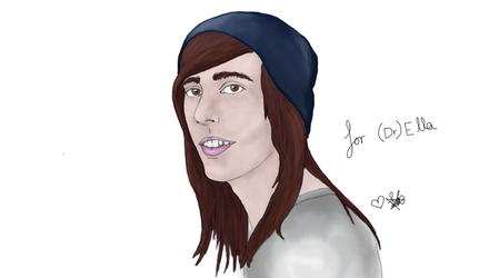 Vic Fuentes, rough digital drawing by RavenReckless