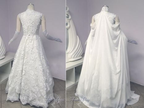 Zelda Wedding Gown Back View by Firefly-Path