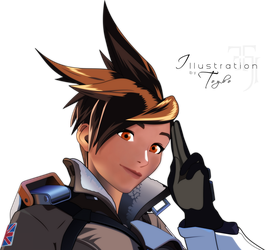 tracer without glasses by Toyboj