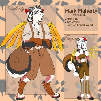 Mark Redesign WIP Unshaded by destructoPop