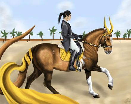Desert, gold, snake and me by buli-17
